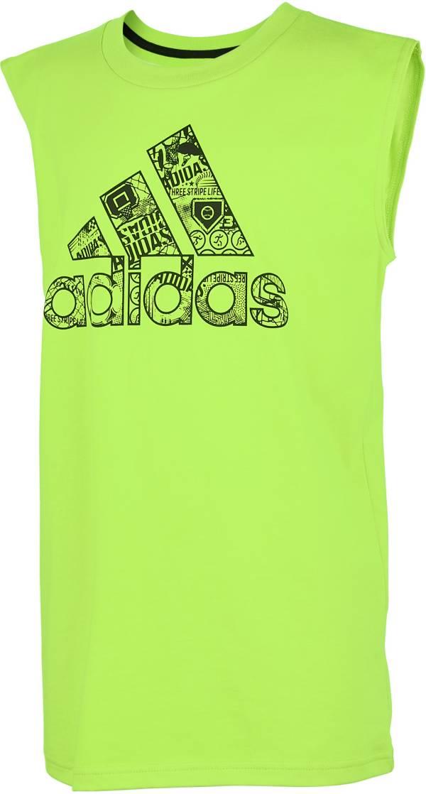 adidas Boys' Sport Print Badge of Sport Logo Graphic Tank Top product image