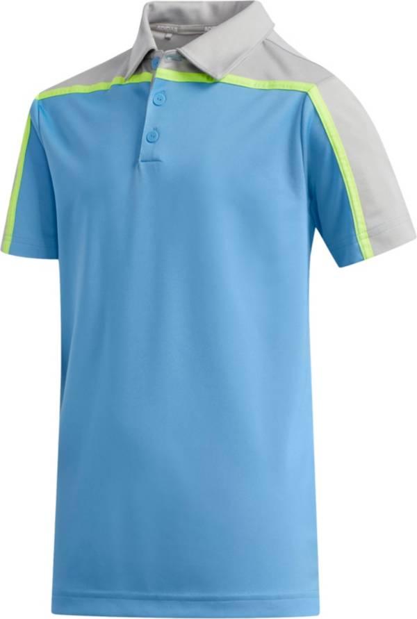 adidas Boys' Heather Colorblock Golf Polo product image