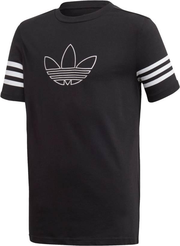 adidas Boys' Metallic Short Sleeve Crewneck T-Shirt product image