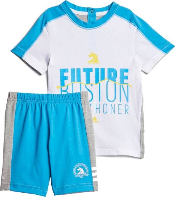 adidas Toddler Girls' Boston Marathon Running T-Shirt and Shorts Set product image