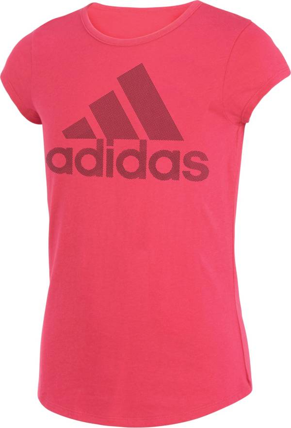 adidas Girls' climalite Rainbow Foil Logo T-Shirt product image