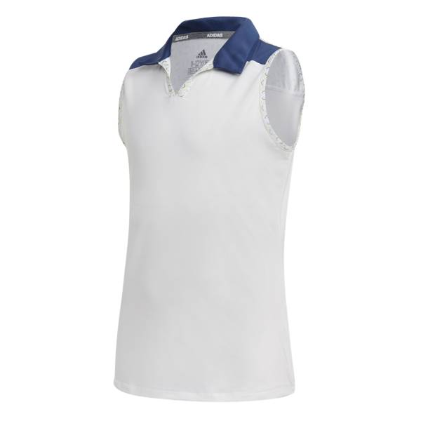adidas Girls' Colorblock Sleeveless Golf Polo product image