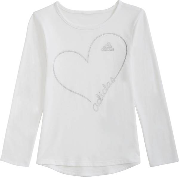 adidas Little Girls' Drop Tail Long Sleeve Shirt product image