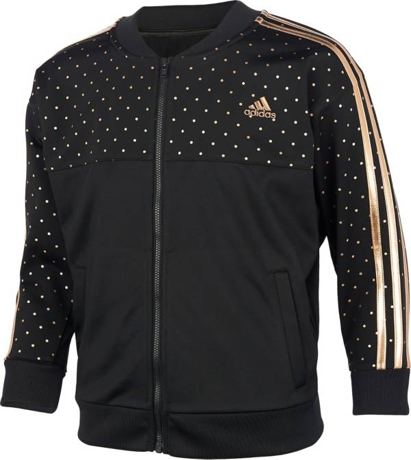adidas Girls' Zip Front Dot Tricot Jacket product image