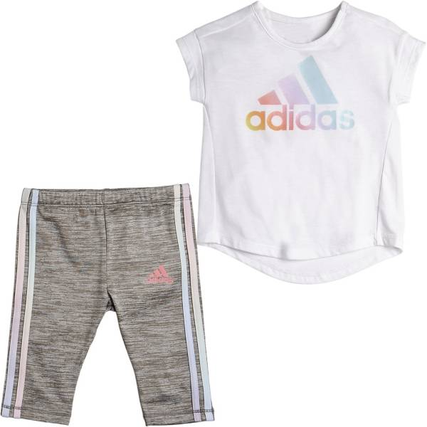 adidas Little Girls' Iridescence T-Shirt and Capri Tights Set product image
