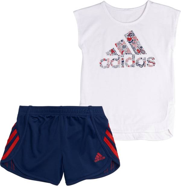 adidas Little Girls' T-Shirt and Soccer Shorts Set product image