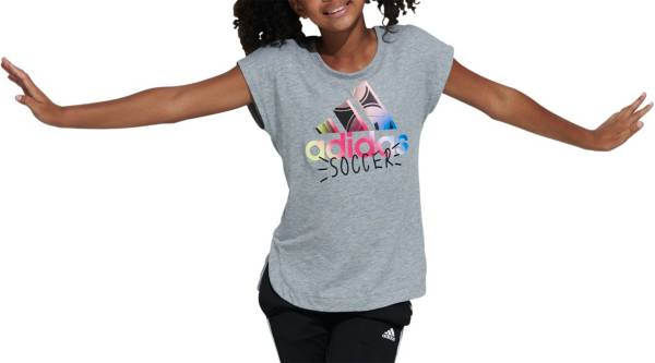 adidas Girls' Soccer Graphic T-Shirt product image
