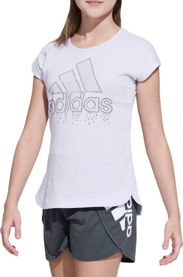 adidas Girls' Hearts Graphic T-Shirt product image