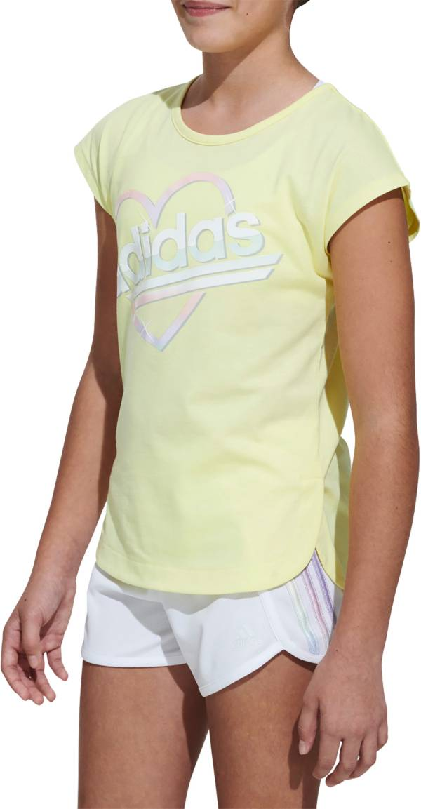 adidas Girls' Heart Graphic T-Shirt product image