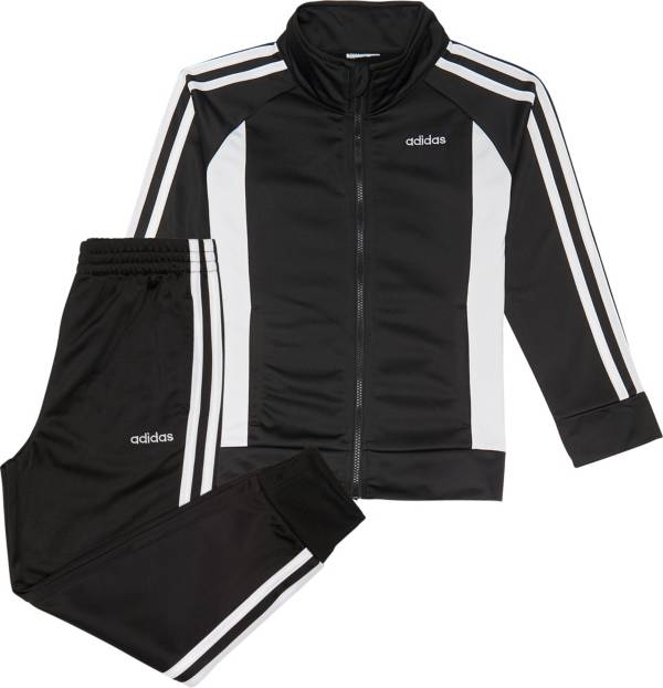 adidas Little Girls' Zip Front Event Tricot Jacket and Jogger Pants Set product image