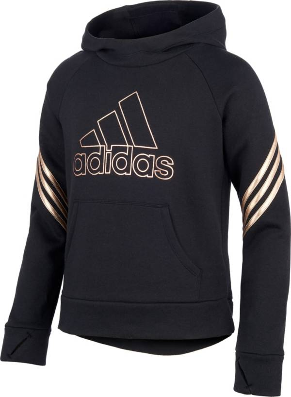 adidas Girls' Fleece 3-Stripe Hoodie product image