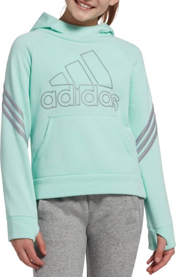 adidas Girls' Fleece 3-Stripe Hoodie product image