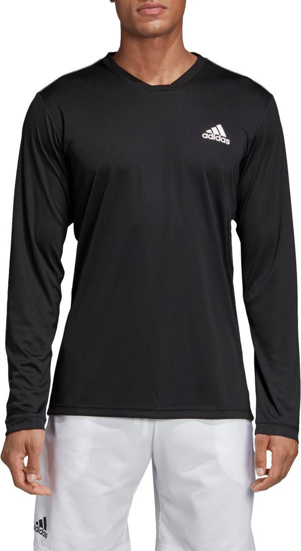adidas Men's Club UV Protect Long Sleeve Tennis T-Shirt product image