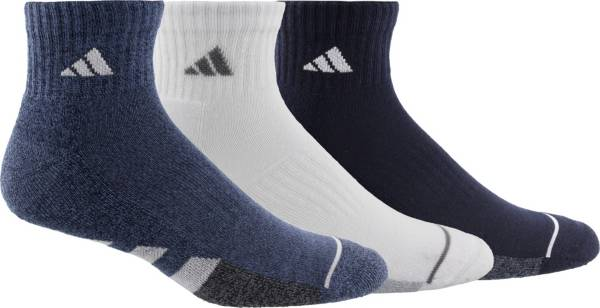 adidas Men's Cushioned II Color Quarter Socks - 3 Pack product image