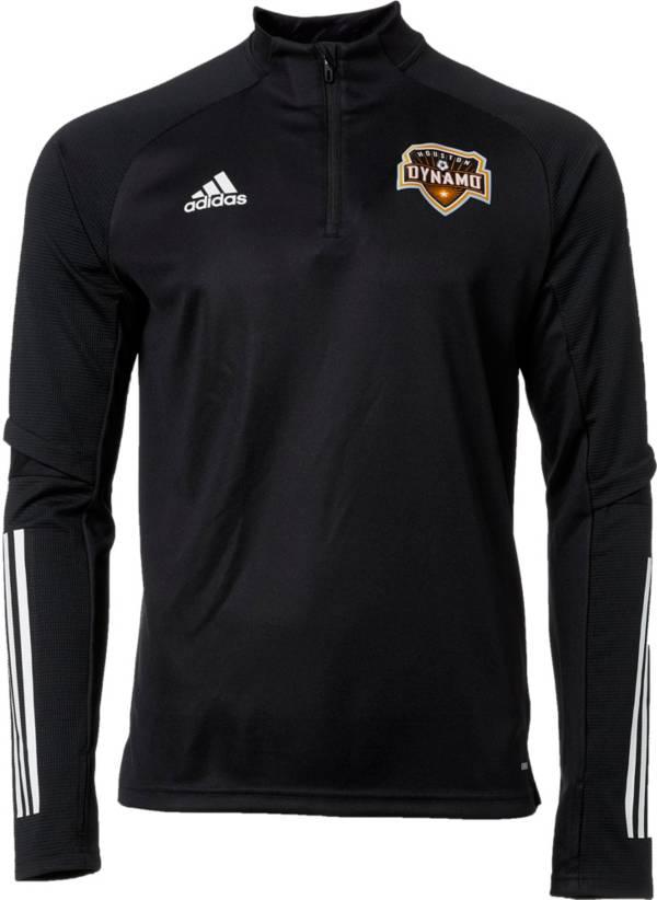 adidas Men's Houston Dynamo Black Training Quarter-Zip Pullover Shirt product image
