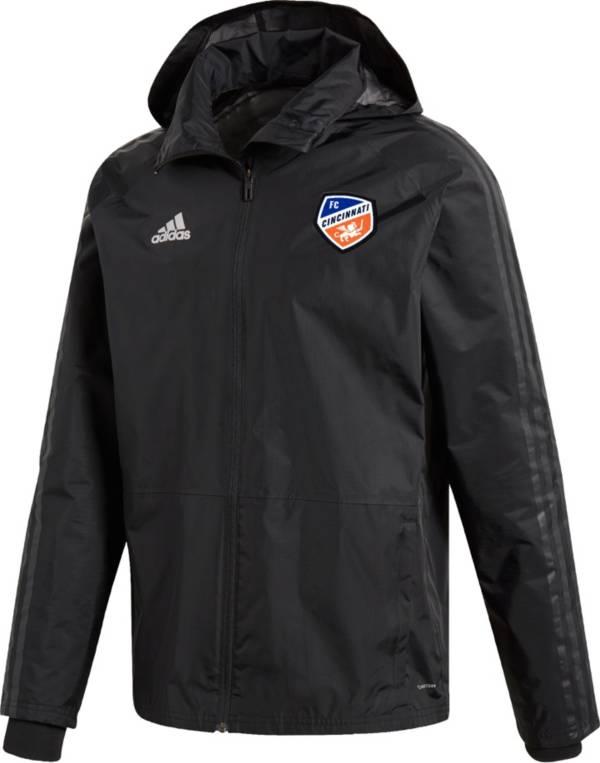 adidas Men's FC Cincinnati Coaches Black Full-Zip Jacket product image