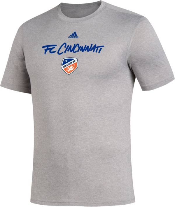 adidas Men's FC Cincinnati Wordmark Gray T-Shirt product image