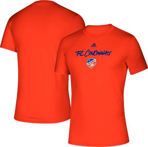 adidas Men's FC Cincinnati Wordmark Orange T-Shirt product image