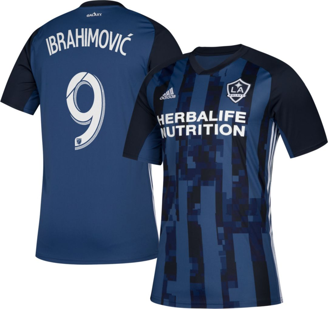 on sale 25797 8d006 adidas Men's Los Angeles Galaxy Zlatan Ibrahimovic #9 Secondary Replica  Jersey