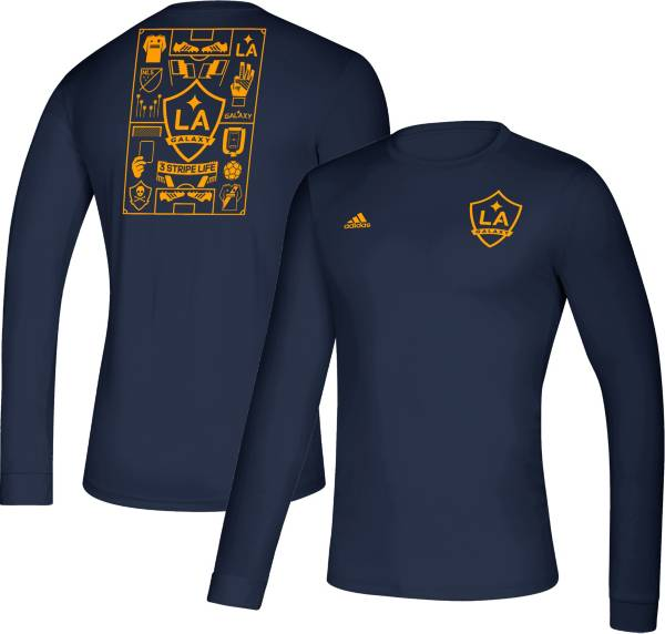 adidas Men's Los Angeles Galaxy Iconic Navy Long Sleeve Shirt product image