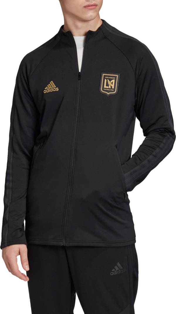 adidas Men's Los Angeles FC Anthem Black Full-Zip Jacket product image
