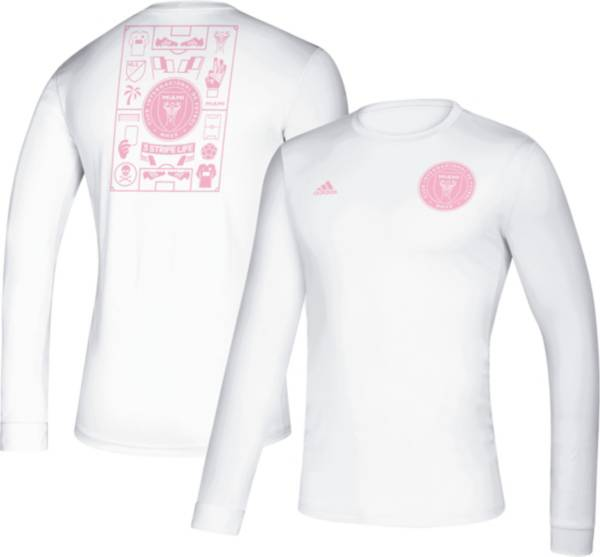 adidas Men's Inter Miami CF Iconic White Long Sleeve Shirt product image