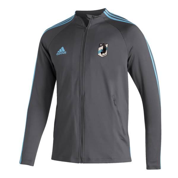 adidas Men's Minnesota United FC Anthem Gray Full-Zip Jacket product image