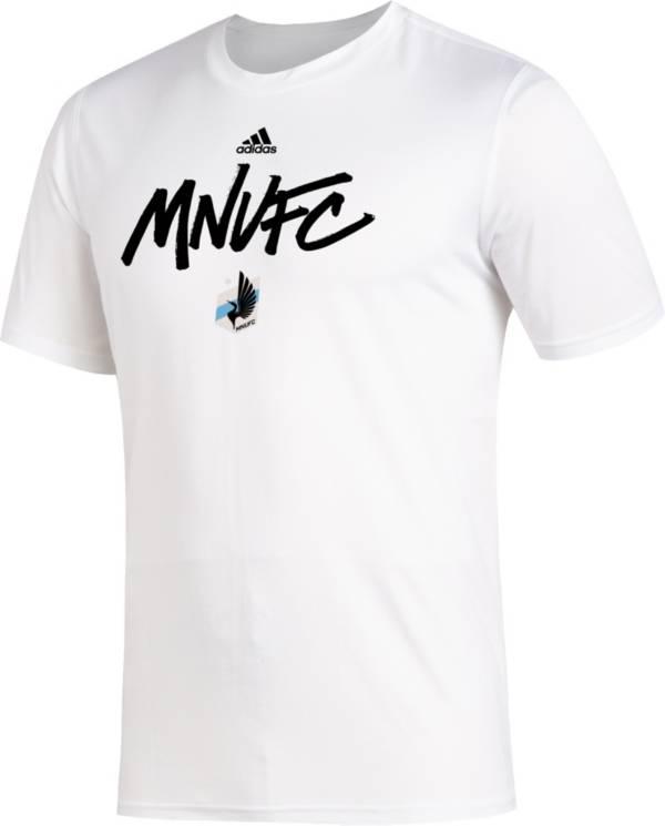 adidas Men's Minnesota United FC Wordmark White T-Shirt product image