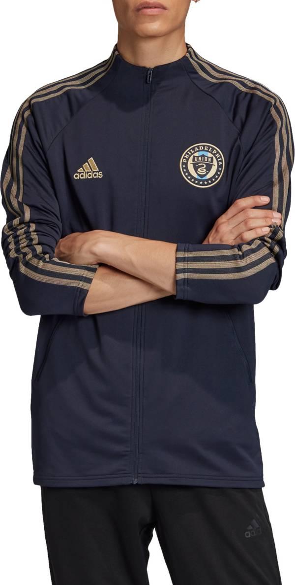 adidas Men's Philadelphia Union Anthem Navy Full-Zip Jacket product image