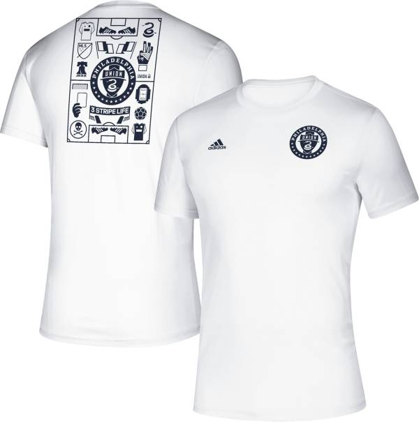adidas Men's Philadelphia Union Iconic White T-Shirt product image
