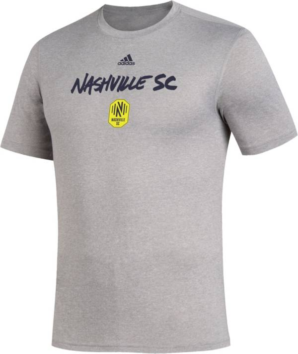 adidas Men's Nashville SC Wordmark Gray T-Shirt product image