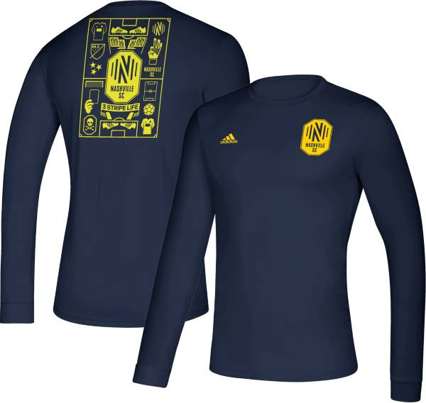 adidas Men's Nashville SC Iconic Navy Long Sleeve Shirt product image