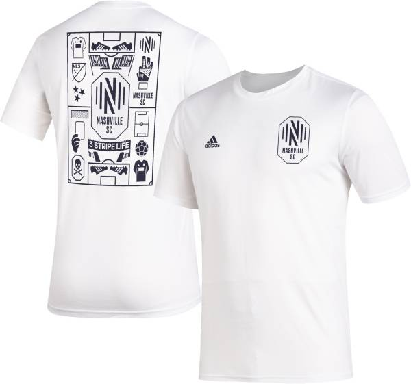 adidas Men's Nashville SC Iconic White T-Shirt product image