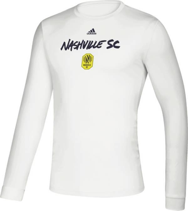 adidas Men's Nashville SC Wordmark White Long Sleeve Shirt product image