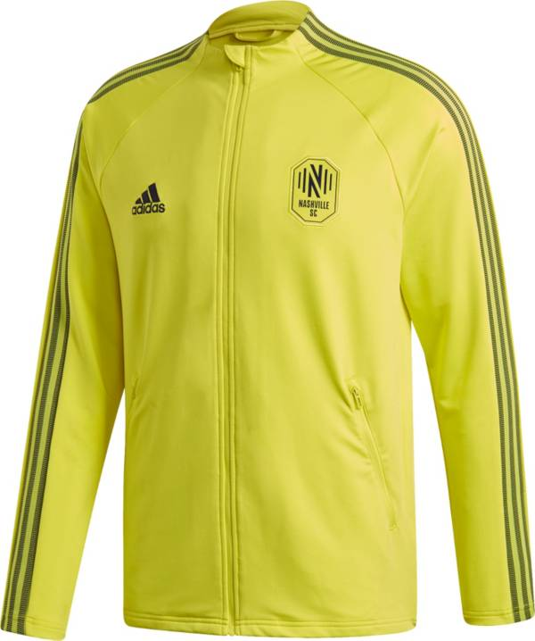 adidas Men's Nashville SC Anthem Yellow Full-Zip Jacket product image