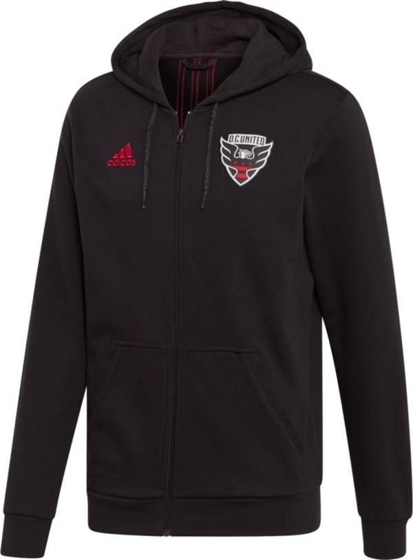 adidas Men's D.C. United Travel Black Full-Zip Hoodie product image