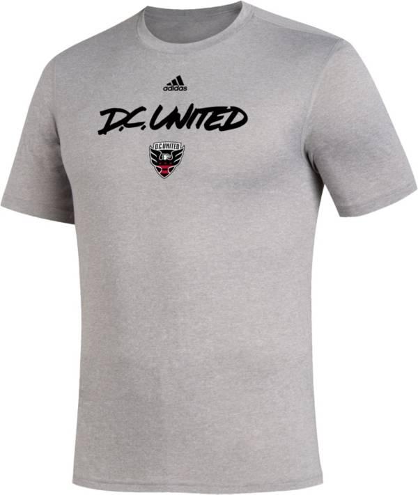 adidas Men's D.C. United Wordmark Gray T-Shirt product image