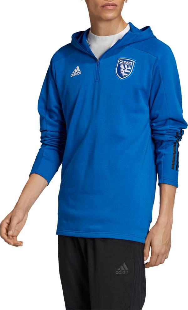adidas Men's San Jose Earthquakes Travel Blue Full-Zip Jacket product image