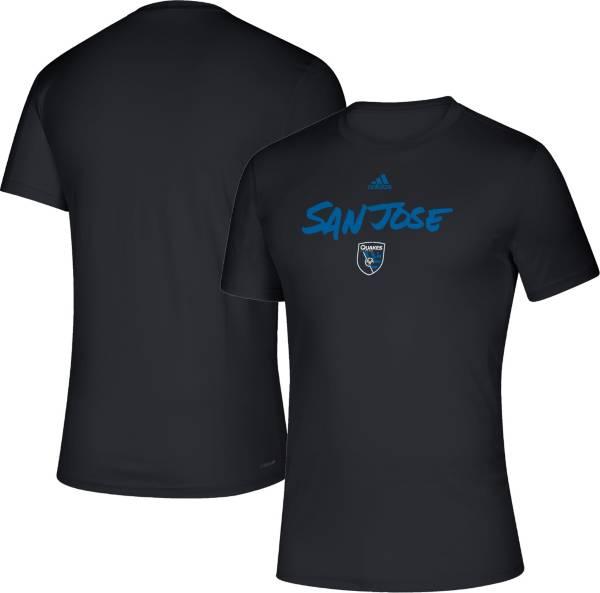 adidas Men's San Jose Earthquakes Wordmark White T-Shirt product image