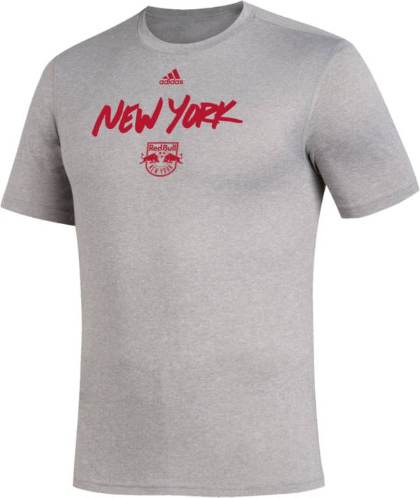 adidas Men's New York Red Bulls Wordmark Gray T-Shirt product image