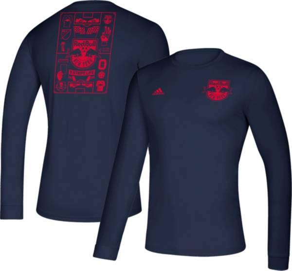 adidas Men's New York Red Bulls Iconic Navy Long Sleeve Shirt product image