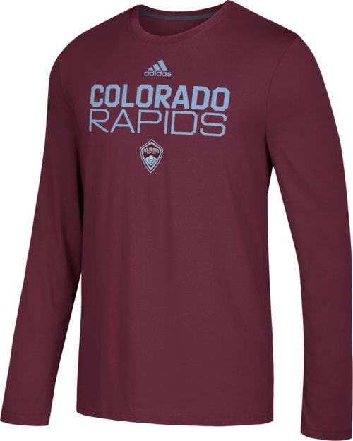 new style 60545 bfa1f adidas Men s Colorado Rapids Logo Performance Maroon Long Sleeve Shirt.  noImageFound. Previous