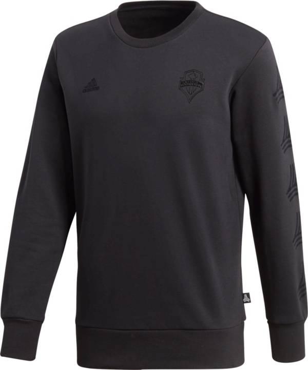 adidas Men's Seattle Sounders Tango Black Crew Sweatshirt product image