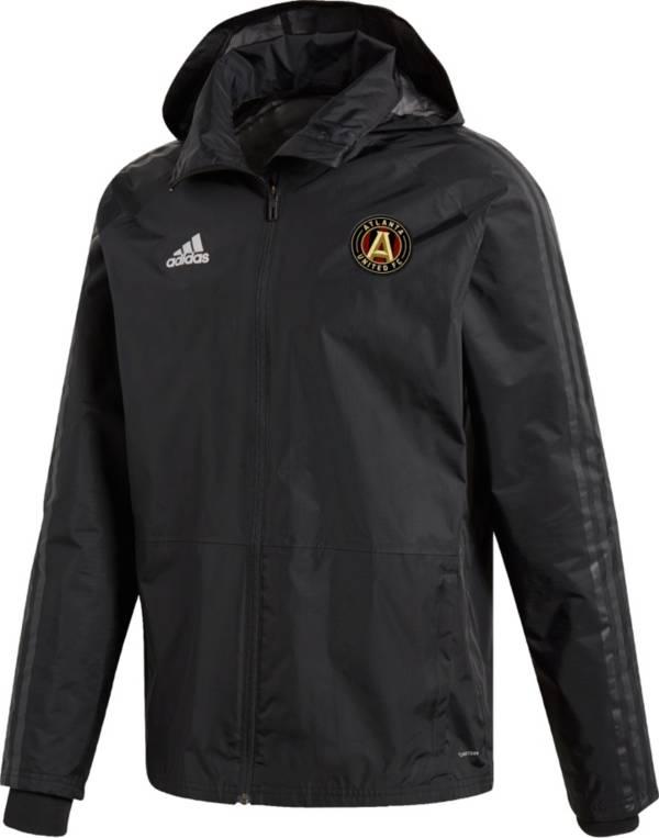 adidas Men's Atlanta United Coaches Black Full-Zip Jacket product image