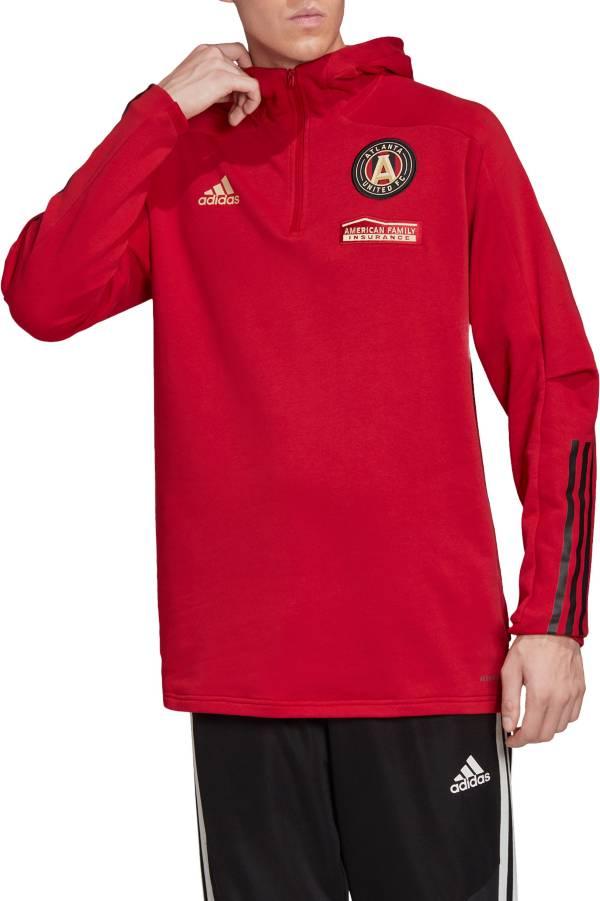 adidas Men's Atlanta United Travel Red Quarter-Zip Pullover Shirt product image