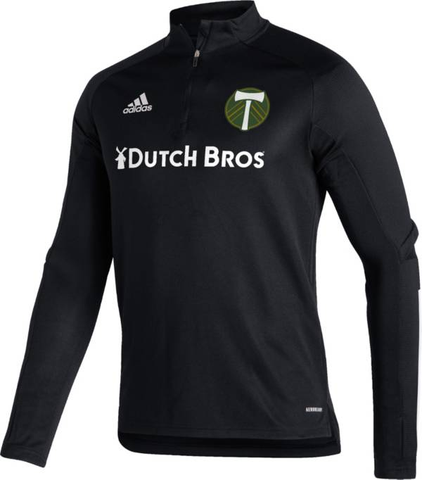 adidas Men's Portland Timbers Black Training Quarter-Zip product image