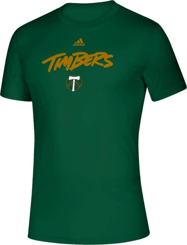 adidas Men's Portland Timbers Wordmark Green T-Shirt product image
