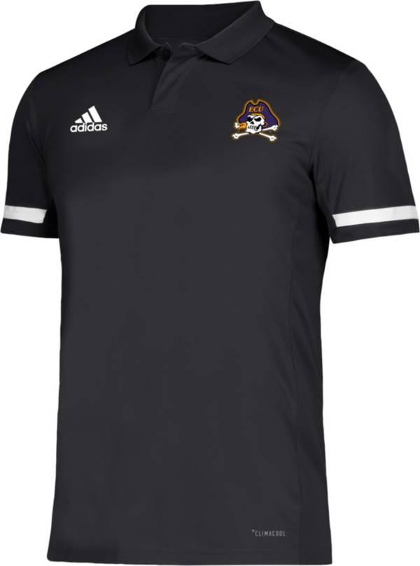 adidas Men's East Carolina Pirates Team 19 Sideline Football Black Polo product image