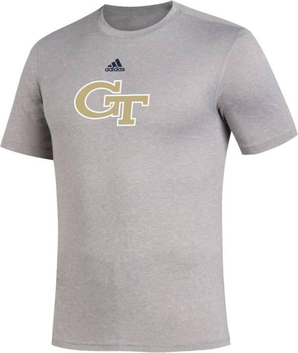 adidas Men's Georgia Tech Yellow Jackets Grey Locker Room Logo Creator T-Shirt product image