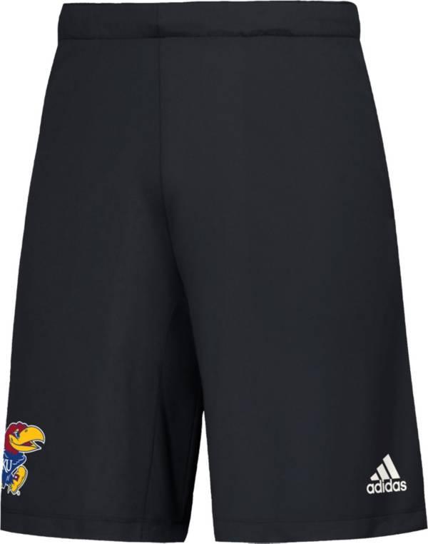 adidas Men's Kansas Jayhawks Game Mode Woven Black Shorts product image